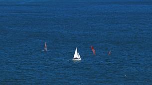 広い海とヨットの写真素材 [FYI01232865]