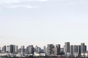 東京のウォーターフロントに建つ高層マンションの風景の写真素材 [FYI01232922]