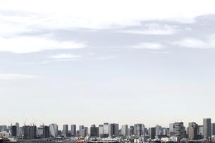 東京のウォーターフロントに建つ高層マンションの風景の写真素材 [FYI01232923]