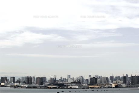 東京のウォーターフロントに建つ高層マンションの風景の写真素材 [FYI01232925]