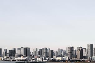 東京のウォーターフロントに建つ高層マンションの風景の写真素材 [FYI01232928]