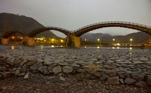 錦帯橋(早朝)の写真素材 [FYI01232941]