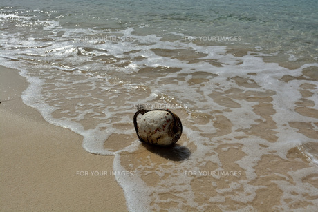 宮古島/冬のビーチの波打ち際の写真素材 [FYI01232967]