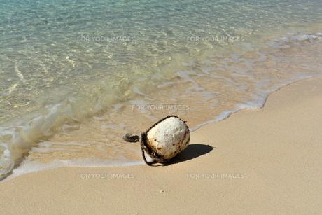 宮古島/冬のビーチの波打ち際の写真素材 [FYI01232973]