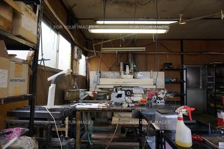 個人経営の工場の写真素材 [FYI01233047]