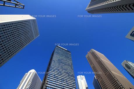 東京新宿の高層ビル群の風景の写真素材 [FYI01233159]