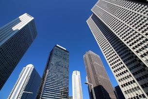 東京新宿の高層ビル群の風景の写真素材 [FYI01233165]