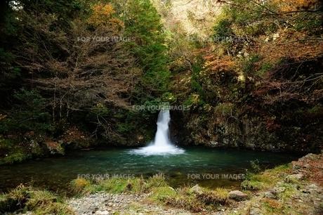 横谷峡四つの滝の紅葉滝の写真素材 [FYI01233549]