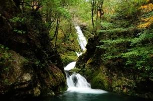 横谷峡四つの滝の鶏鳴滝の下流の写真素材 [FYI01233554]