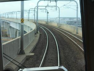 前進する線路の写真素材 [FYI01233591]