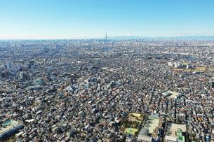 江戸川上空の風景の写真素材 [FYI01234016]