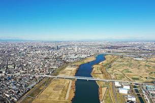 江戸川上空の風景の写真素材 [FYI01234017]