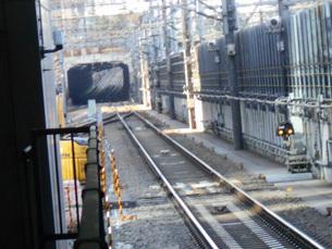東海道新幹線の線路の写真素材 [FYI01234176]