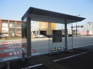 バス停の写真素材 [FYI01234575]