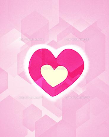 ピンク色のハートのイラストのイラスト素材 [FYI01234661]