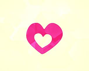 ピンク色のハートのイラストのイラスト素材 [FYI01234662]