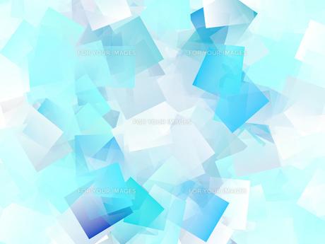 青系色の四角が重なったイラストのイラスト素材 [FYI01234663]