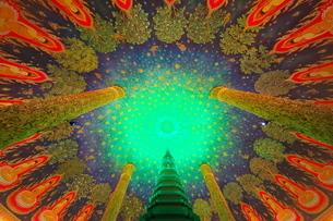 ワットパクナムの天井画の写真素材 [FYI01234678]