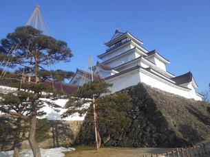 鶴ヶ城公園の冬(福島県会津若松市)の写真素材 [FYI01235099]