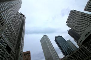 クールな色彩に統一された新宿の高層ビル群の写真素材 [FYI01235472]