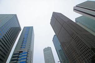 クールな色彩に統一された新宿の高層ビル群の写真素材 [FYI01235484]