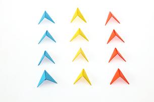 折紙の矢印の写真素材 [FYI01236009]