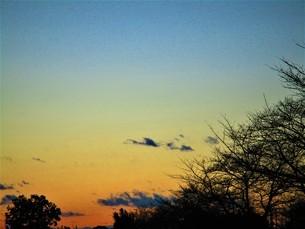 真冬の夕焼けの写真素材 [FYI01236025]