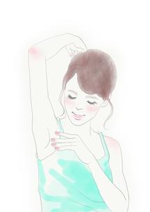 ボディケアをする女性のイラスト素材 [FYI01236081]