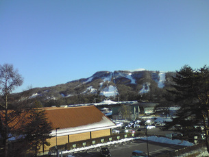 軽井沢で見た雪(長野県)の写真素材 [FYI01236166]