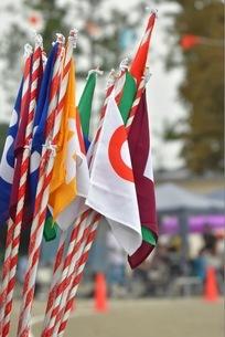 運動会の順位旗の写真素材 [FYI01236549]