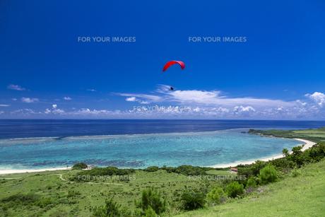 サンゴ礁の海を見下ろすの写真素材 [FYI01236671]