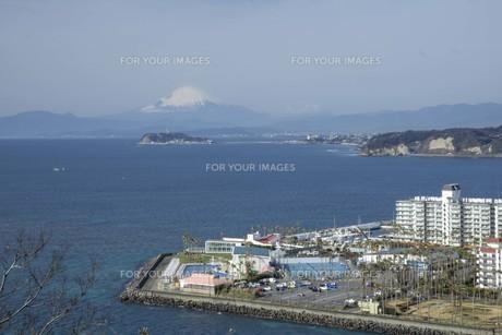 海と江の島と富士山の写真素材 [FYI01236777]