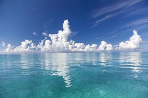 南の島のサンゴ礁の海の写真素材 [FYI01237149]
