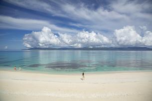 南の島のサンゴ礁の海の写真素材 [FYI01237156]