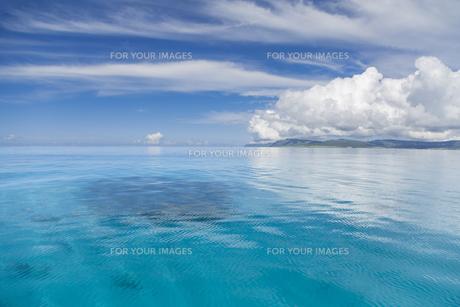 南の島のサンゴ礁の海の写真素材 [FYI01237158]