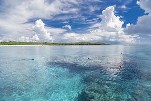 南の島のサンゴ礁の海の写真素材 [FYI01237168]