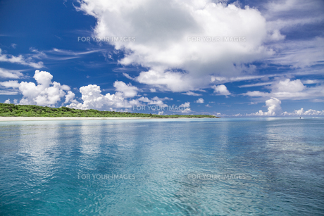 南の島のサンゴ礁の海の写真素材 [FYI01237176]