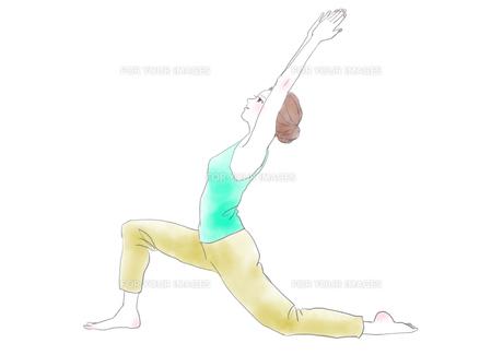 ヨガをする女性のイラスト素材 [FYI01237479]