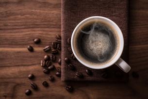 ホットコーヒーの写真素材 [FYI01237633]