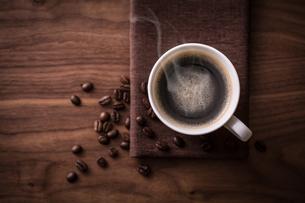ホットコーヒーの写真素材 [FYI01237634]
