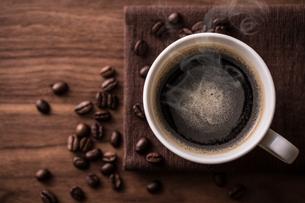 ホットコーヒーの写真素材 [FYI01237636]