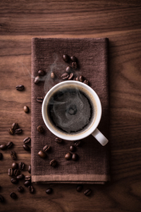 ホットコーヒーの写真素材 [FYI01237637]