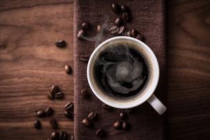 ホットコーヒーの写真素材 [FYI01237638]