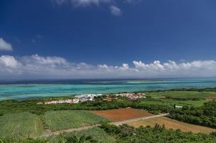 小浜島 サンゴ礁の海を見渡す展望台の写真素材 [FYI01237934]