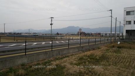 福岡県直方市 山野の夕景の写真素材 [FYI01238175]