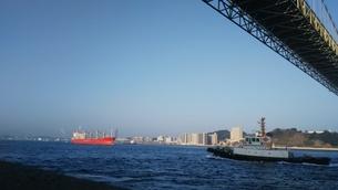 関門大橋 関門海峡の写真素材 [FYI01238182]
