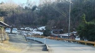 山口県 山間部 2月 雪の写真素材 [FYI01238184]