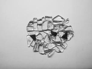 水晶ブロック(モノクロ)の写真素材 [FYI01238686]
