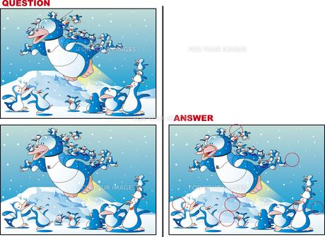 間違い探し、ペンギンのロボットのイラスト素材 [FYI01239456]