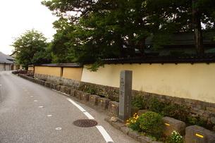 金沢の町並み 旧武家屋敷の写真素材 [FYI01239466]